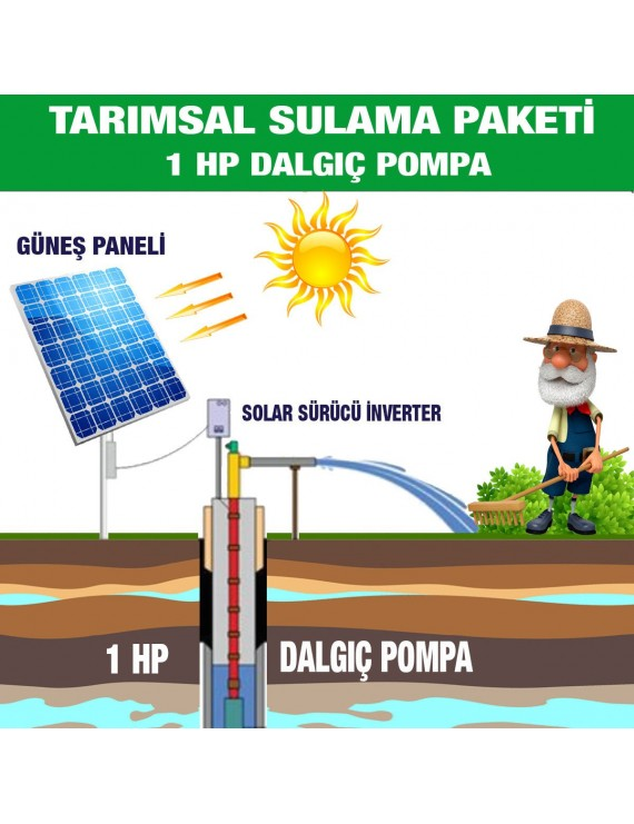 1HP SUBMERSIBLE PUMP - AGRICULTURAL IRRIGATION SYSTEM