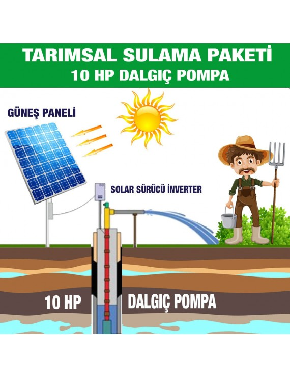 10HP SUBMERSIBLE PUMP - AGRICULTURAL IRRIGATION SYSTEM