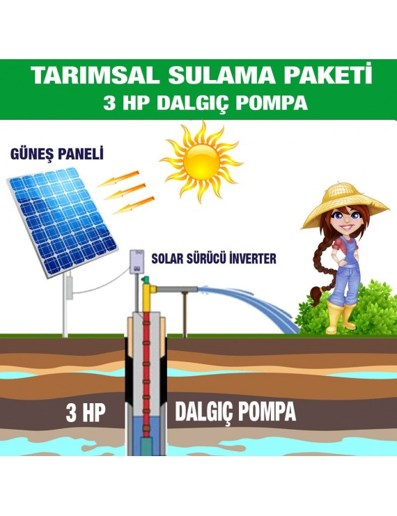 3HP SUBMERSIBLE PUMP - AGRICULTURAL IRRIGATION SYSTEM