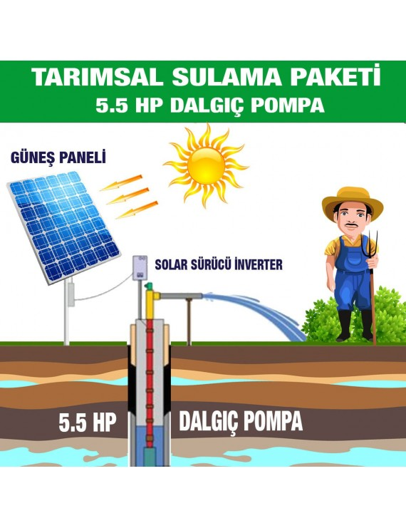 5.5HP SUBMERSIBLE PUMP - AGRICULTURAL IRRIGATION SYSTEM